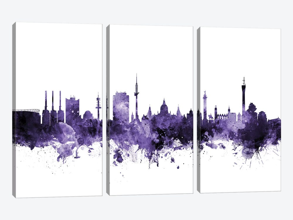 Hannover, Germany Skyline by Michael Tompsett 3-piece Canvas Print