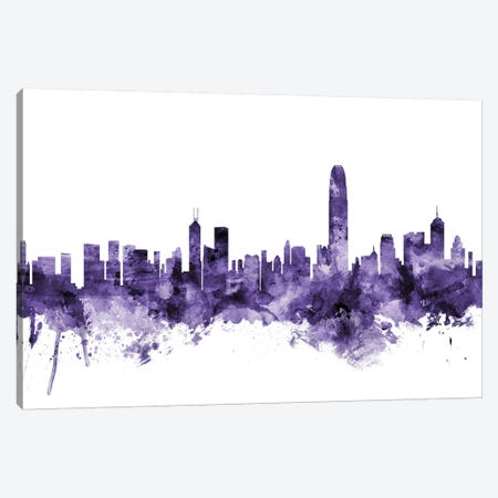 Hong Kong Skyline Canvas Print #MTO608} by Michael Tompsett Canvas Print