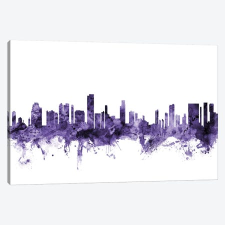 Honolulu, Hawaii Skyline Canvas Print #MTO609} by Michael Tompsett Canvas Art Print