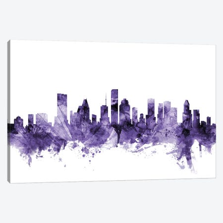 Houston, Texas Skyline Canvas Print #MTO610} by Michael Tompsett Canvas Artwork