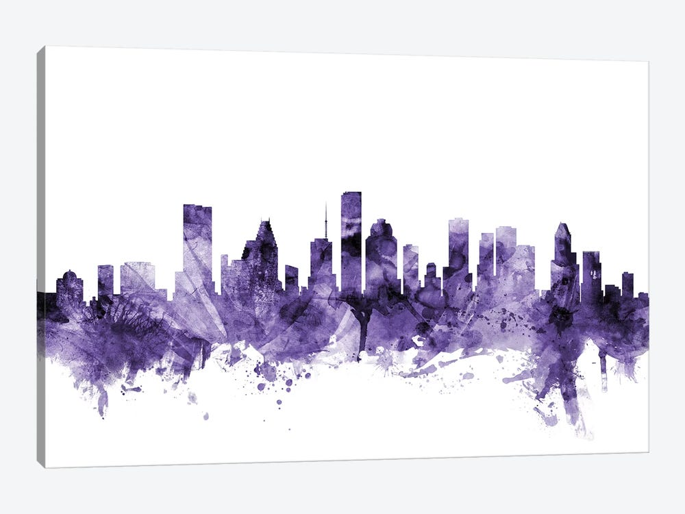 Houston, Texas Skyline by Michael Tompsett 1-piece Canvas Artwork
