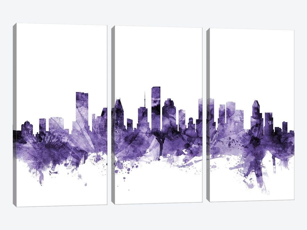 Houston, Texas Skyline by Michael Tompsett 3-piece Canvas Artwork