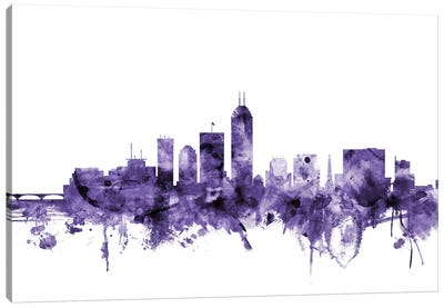 Indianapolis, Indiana Skyline Canvas Art Print