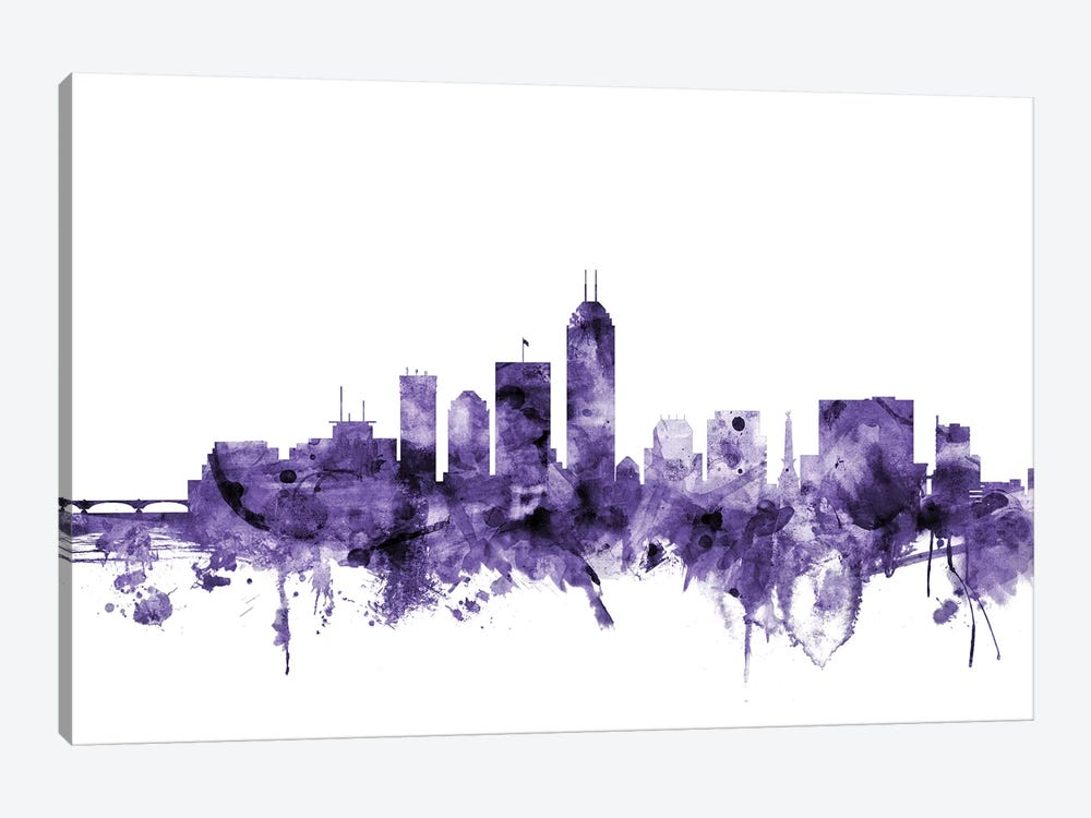 Indianapolis, Indiana Skyline by Michael Tompsett 1-piece Canvas Art Print