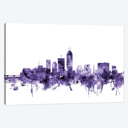 Indianapolis, Indiana Skyline Canvas Print #MTO611} by Michael Tompsett Canvas Wall Art