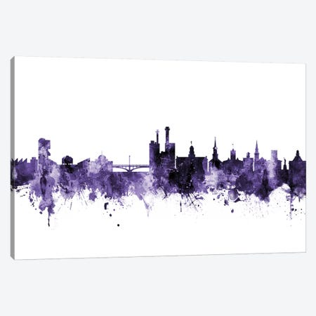 Iowa City, Iowa Skyline Canvas Print #MTO612} by Michael Tompsett Canvas Wall Art
