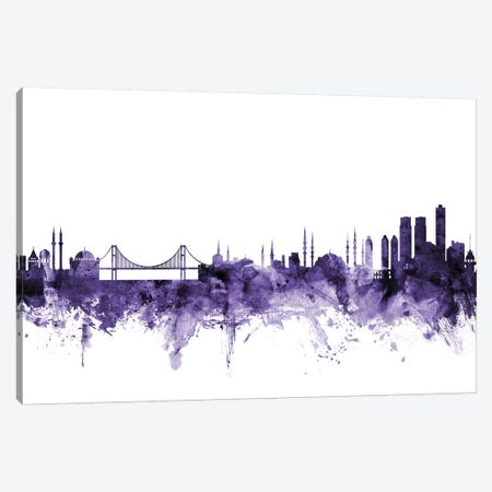 Istanbul, Turkey Skyline Canvas Print #MTO613} by Michael Tompsett Canvas Wall Art