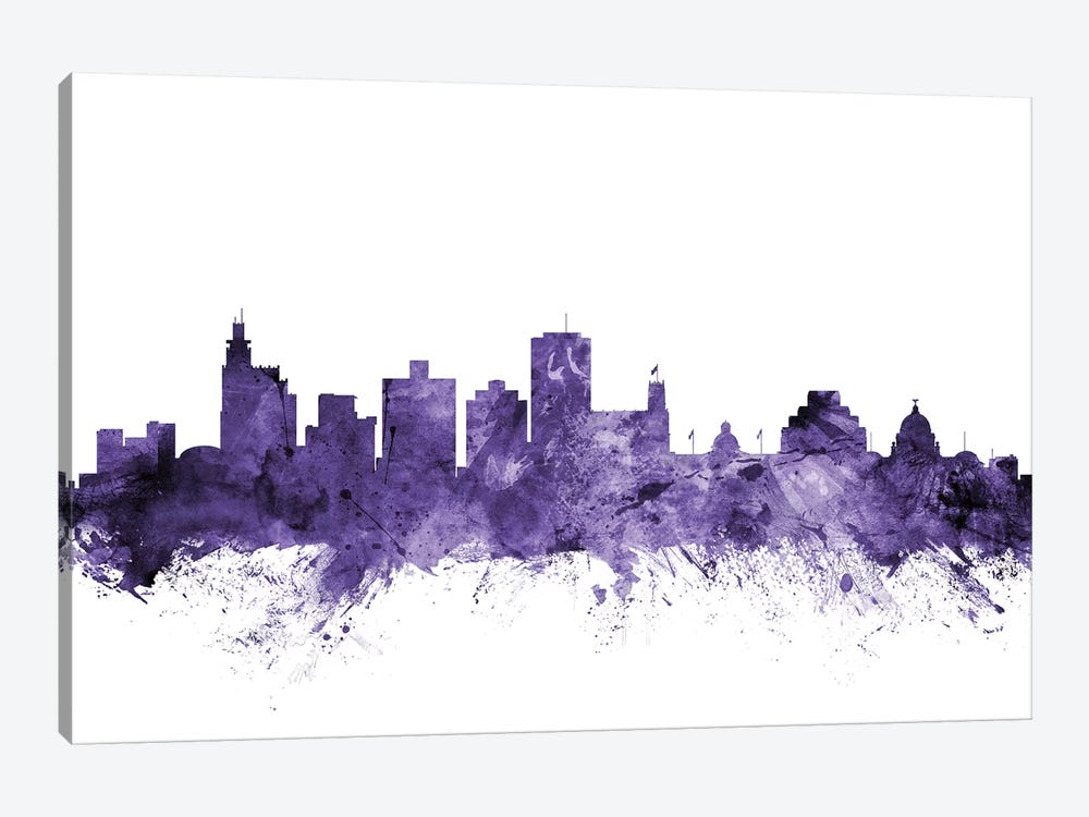Jackson, Mississippi Skyline by Michael Tompsett 1-piece Canvas Artwork