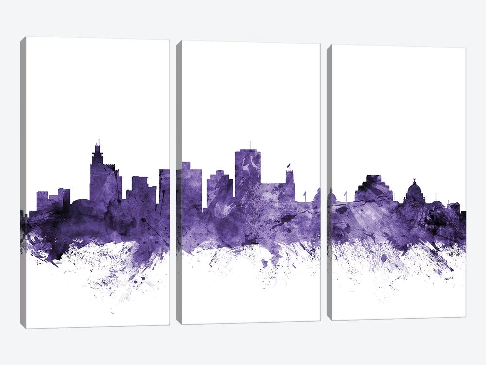 Jackson, Mississippi Skyline by Michael Tompsett 3-piece Canvas Artwork