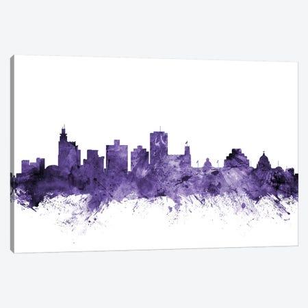 Jackson, Mississippi Skyline Canvas Print #MTO614} by Michael Tompsett Art Print