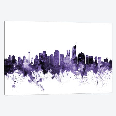 Jakarta, Indonesia Skyline Canvas Print #MTO615} by Michael Tompsett Canvas Art Print