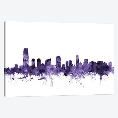 Jersey City, New Jersey Skyline Canvas Print #MTO616} by Michael Tompsett Canvas Print
