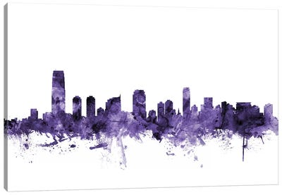 Jersey City, New Jersey Skyline Canvas Art Print