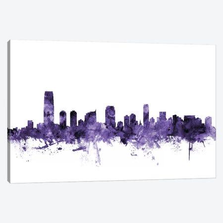 Jersey City, New Jersey Skyline Canvas Print #MTO616} by Michael Tompsett Canvas Print