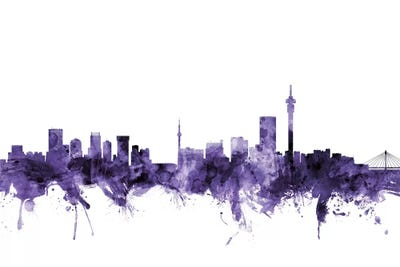 Johannesburg, South Africa Skyline Art Print by Michael Tompsett ...