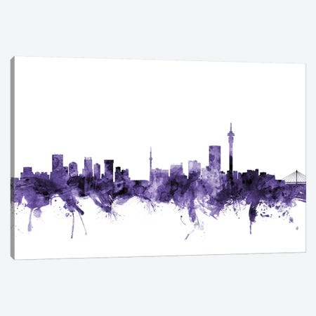 Johannesburg, South Africa Skyline Canvas Print #MTO617} by Michael Tompsett Art Print