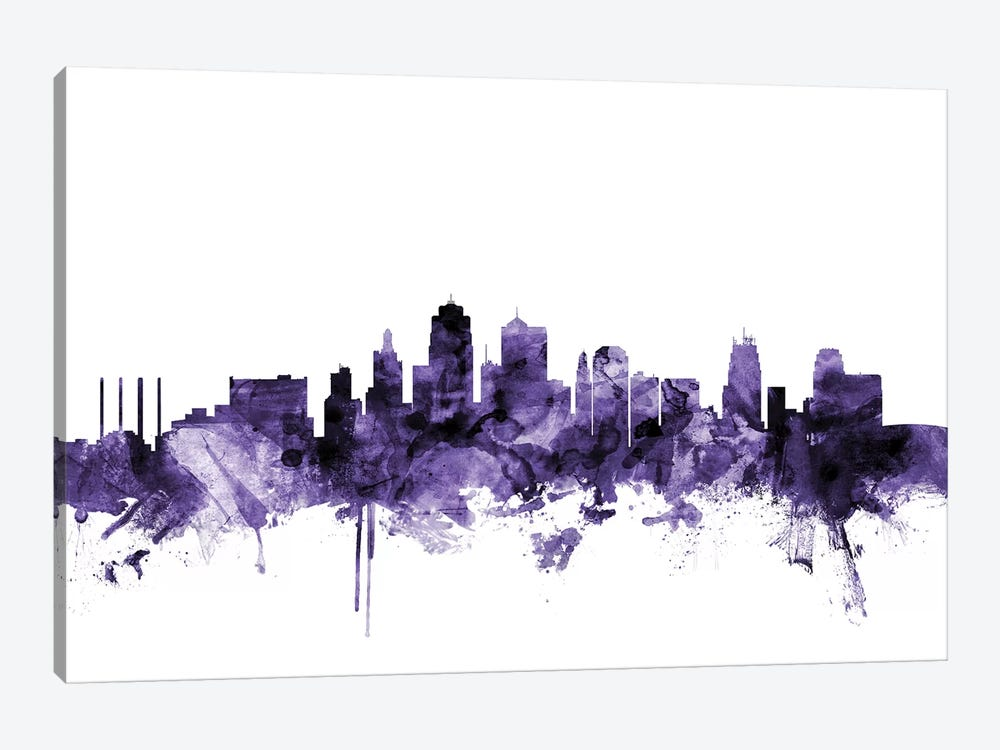 Kansas City, Missouri Skyline by Michael Tompsett 1-piece Canvas Art