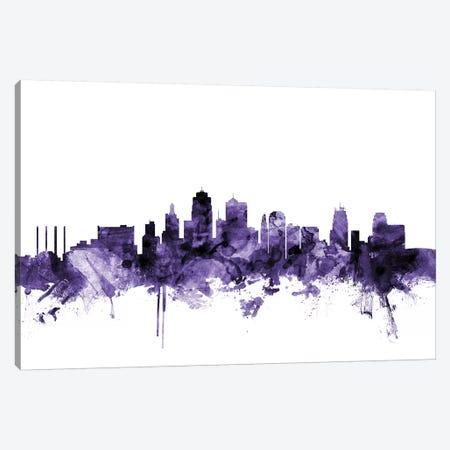 Kansas City, Missouri Skyline Canvas Print #MTO618} by Michael Tompsett Canvas Artwork