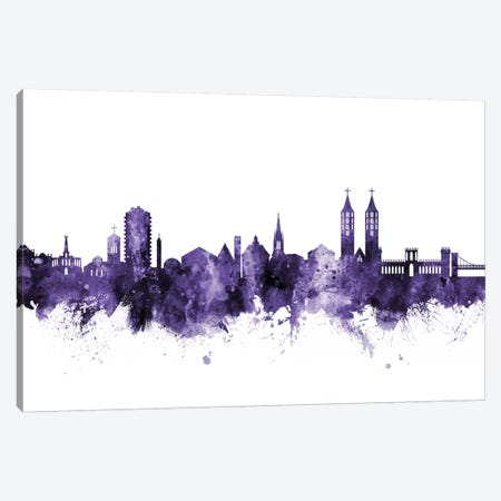 Kassel, Germany Skyline Canvas Print #MTO619} by Michael Tompsett Canvas Wall Art