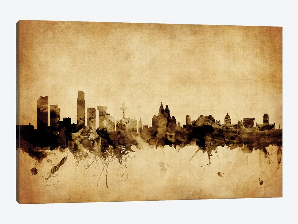 Liverpool, England, United Kingdom by Michael Tompsett 1-piece Canvas Wall Art