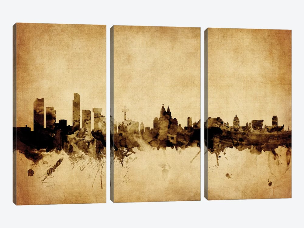 Liverpool, England, United Kingdom by Michael Tompsett 3-piece Canvas Wall Art
