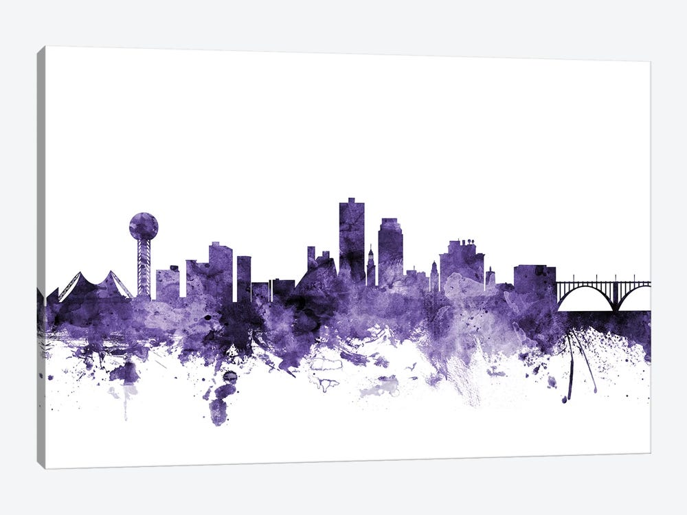 Knoxville, Tennessee Skyline Canvas Art by Michael Tompsett | iCanvas