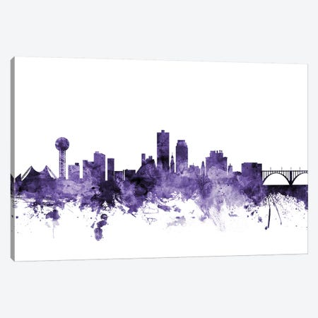 Knoxville, Tennessee Skyline Canvas Print #MTO620} by Michael Tompsett Canvas Print