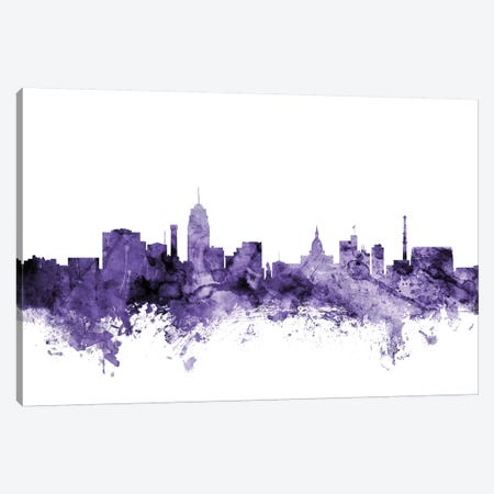 Lansing, Michigan Skyline Canvas Print #MTO622} by Michael Tompsett Art Print