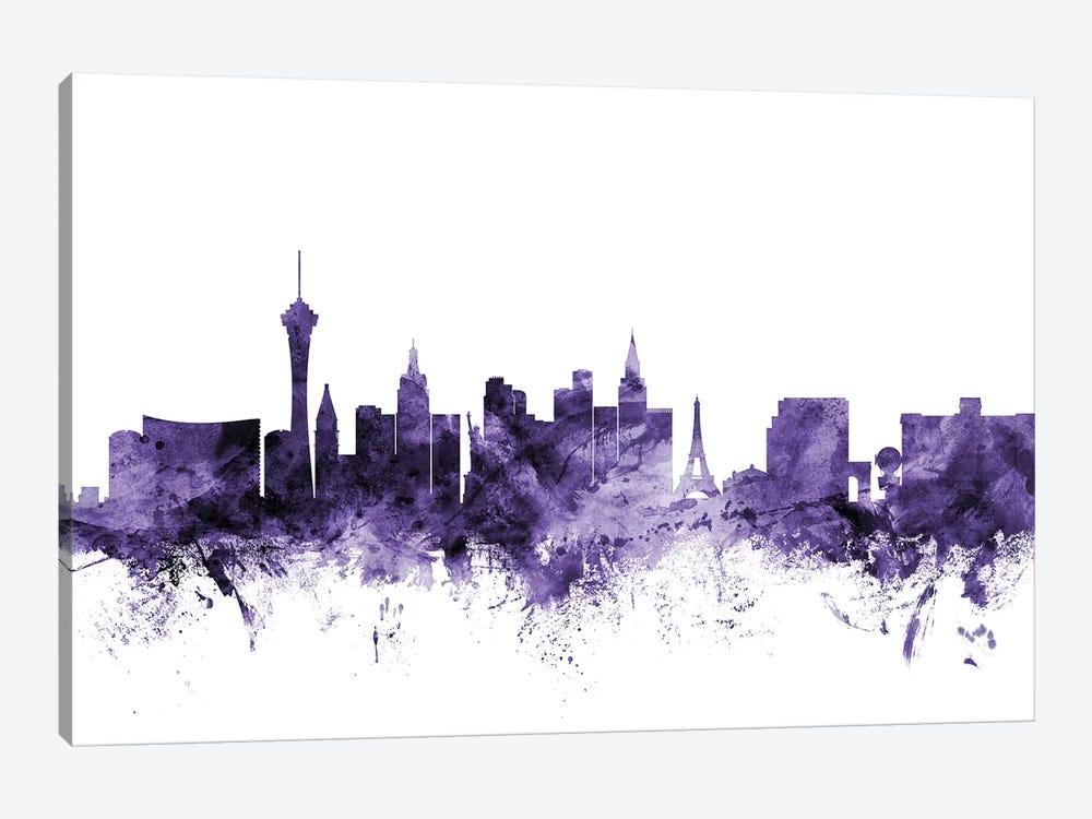 Las Vegas, Nevada Skyline by Michael Tompsett 1-piece Canvas Art