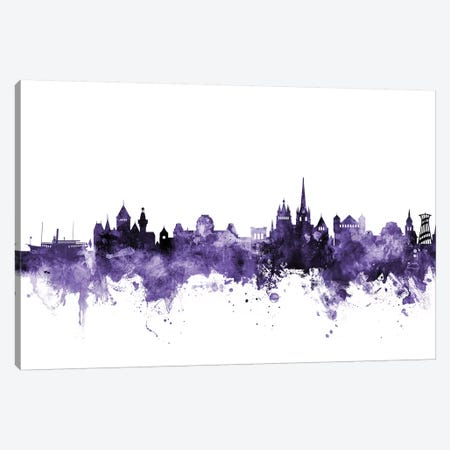 Lausanne, Switzerland Skyline Canvas Print #MTO624} by Michael Tompsett Canvas Wall Art