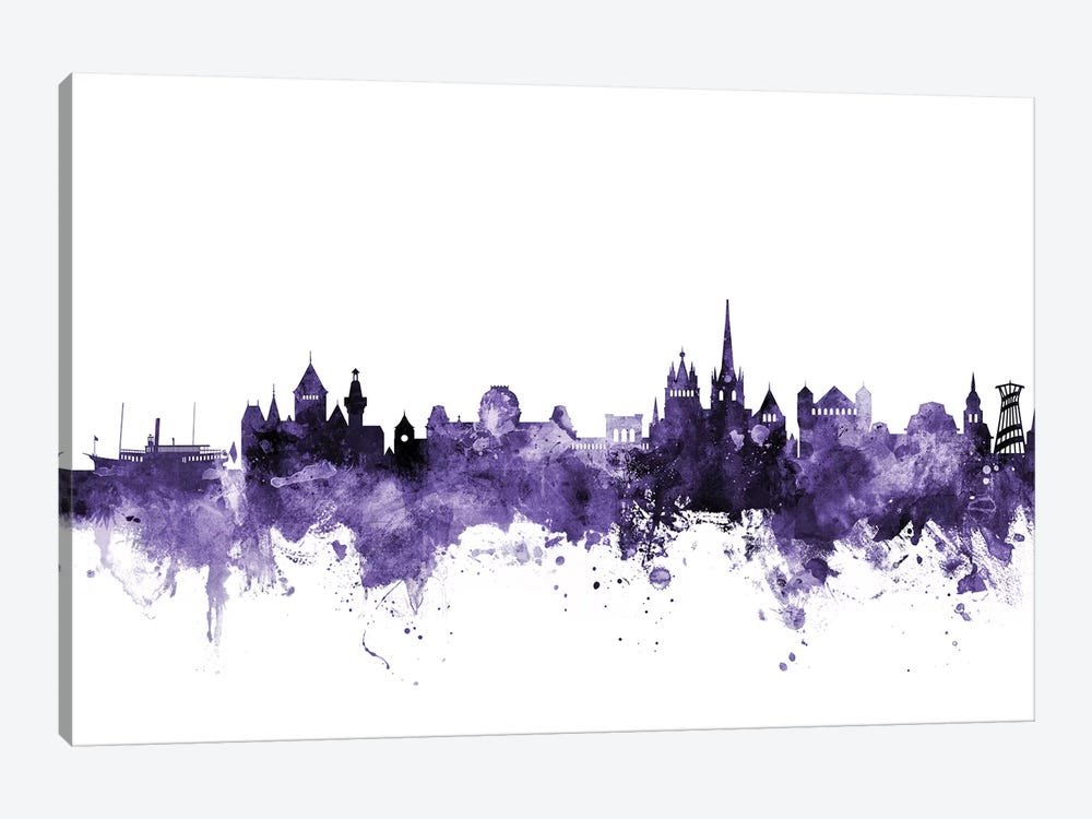 Lausanne, Switzerland Skyline 1-piece Art Print