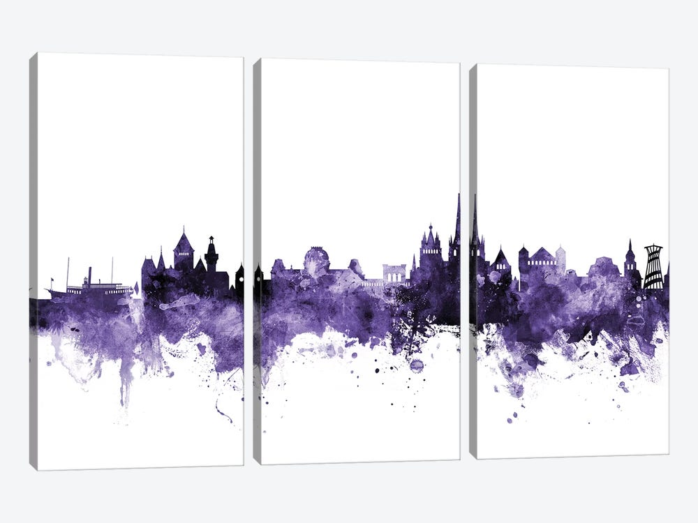 Lausanne, Switzerland Skyline by Michael Tompsett 3-piece Canvas Art Print