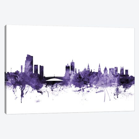 Leeds, England Skyline Canvas Print #MTO625} by Michael Tompsett Canvas Artwork