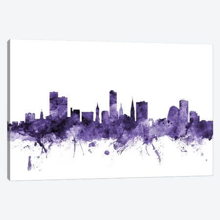 Leicester, England Skyline Canvas Print #MTO626} by Michael Tompsett Canvas Artwork