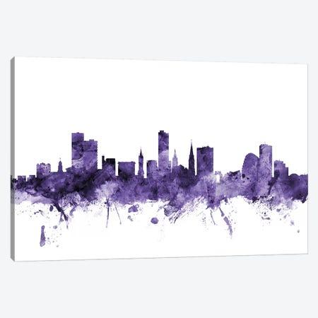 Leicester, England Skyline Canvas Print #MTO626} by Michael Tompsett Canvas Artwork
