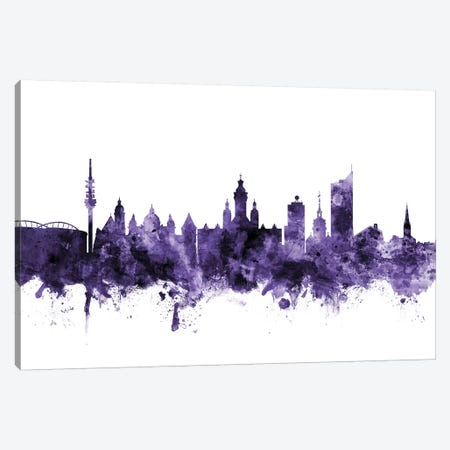 Leipzig, Germany Skyline Canvas Print #MTO627} by Michael Tompsett Canvas Artwork