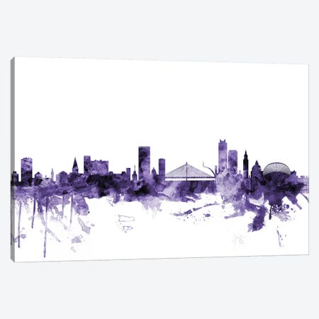Liege, Belgium Skyline 3-Piece Canvas #MTO628} by Michael Tompsett Canvas Art Print