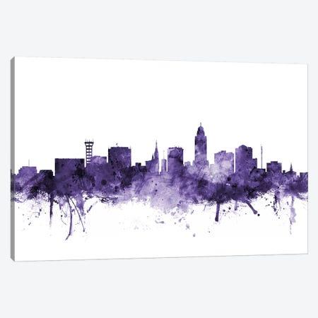 Lincoln, Nebraska Skyline Canvas Print #MTO629} by Michael Tompsett Art Print