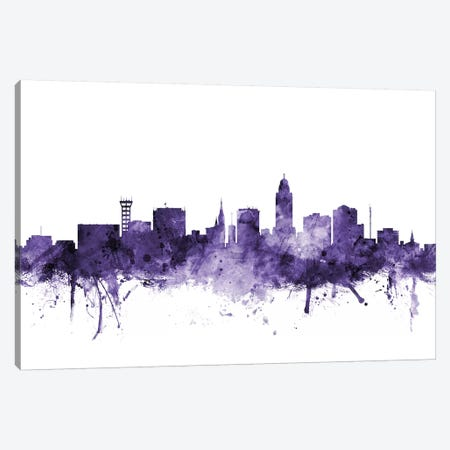 Lincoln, Nebraska Skyline Canvas Print #MTO629} by Michael Tompsett Art Print