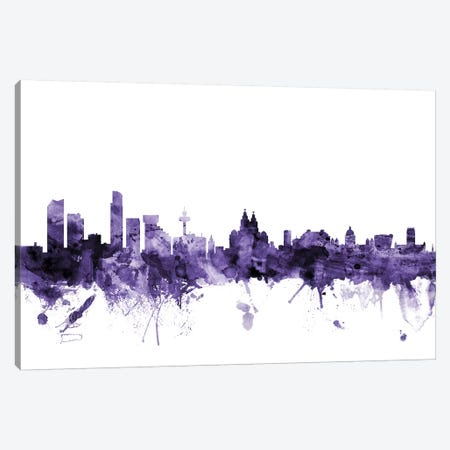 Liverpool, England Skyline Canvas Print #MTO631} by Michael Tompsett Canvas Art