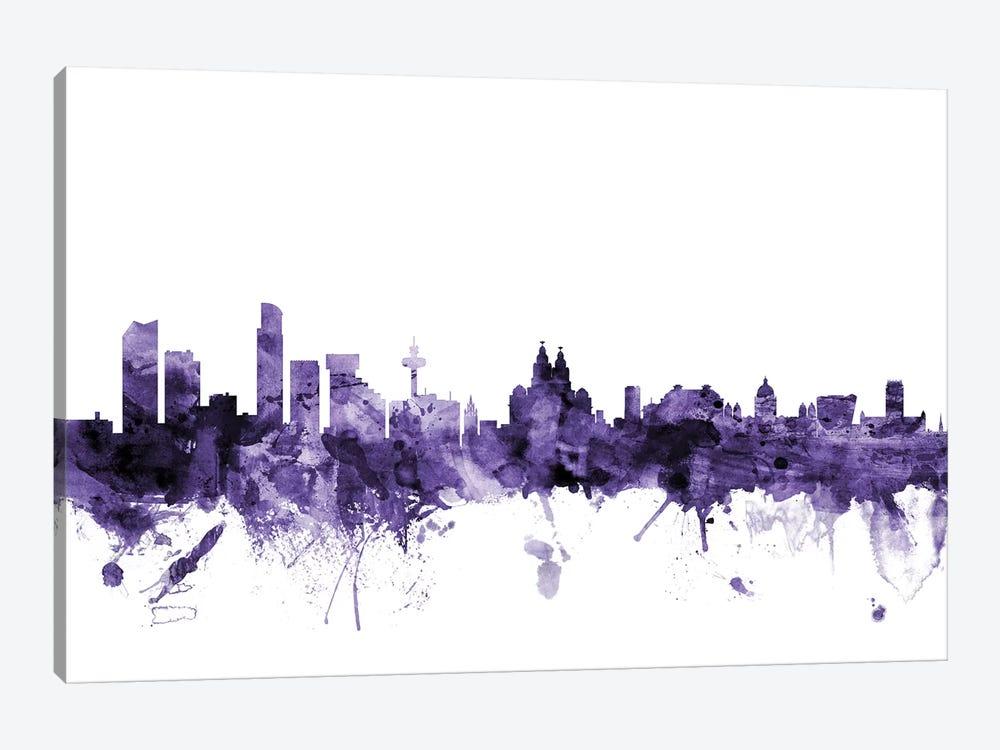 Liverpool, England Skyline by Michael Tompsett 1-piece Art Print