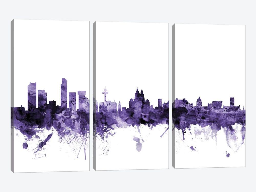 Liverpool, England Skyline by Michael Tompsett 3-piece Canvas Art Print
