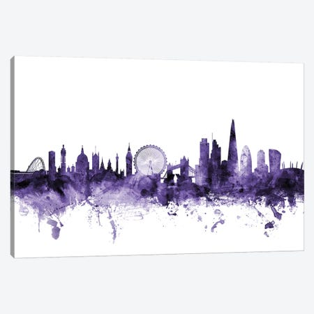 London, England Skyline I Canvas Print #MTO632} by Michael Tompsett Canvas Artwork
