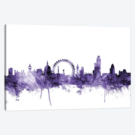 London, England Skyline II Canvas Print #MTO633} by Michael Tompsett Canvas Art