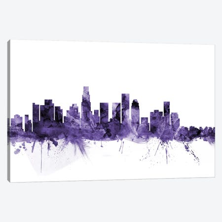 Los Angeles, California Skyline I Canvas Print #MTO634} by Michael Tompsett Canvas Print