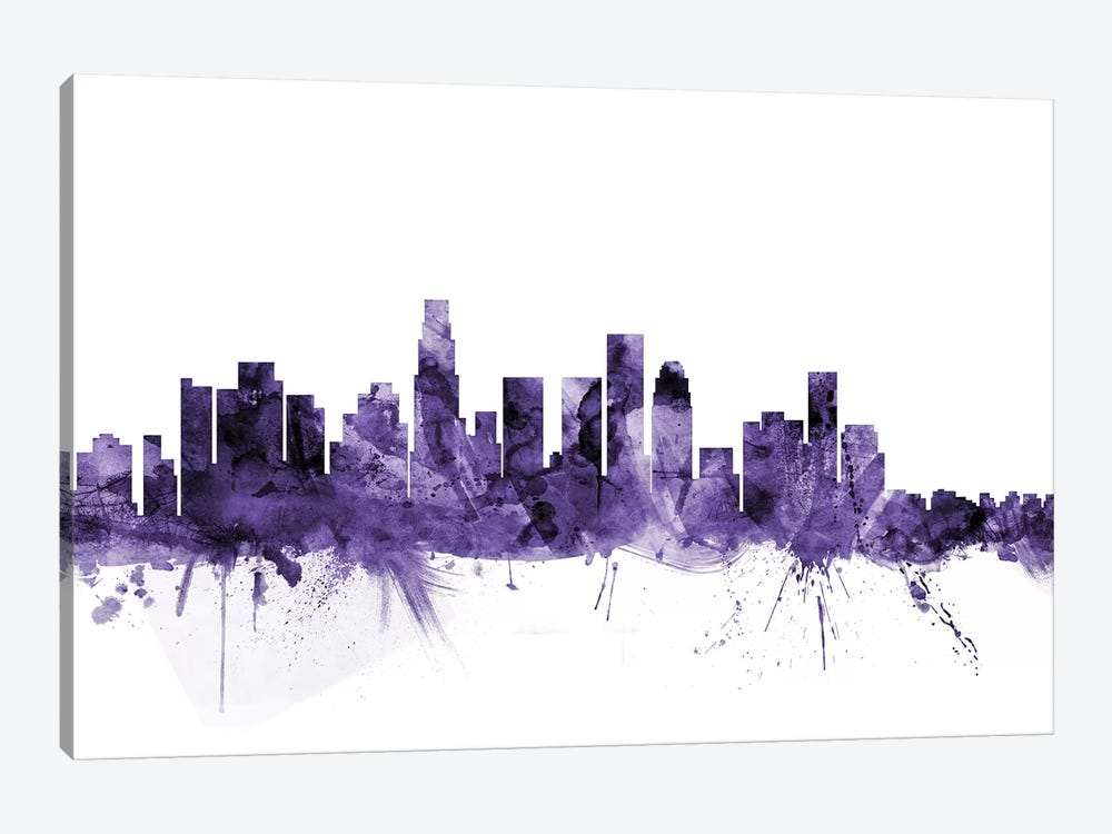 Los Angeles, California Skyline I by Michael Tompsett 1-piece Canvas Artwork
