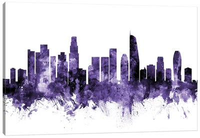 Los Angeles, California Skyline II Canvas Art Print
