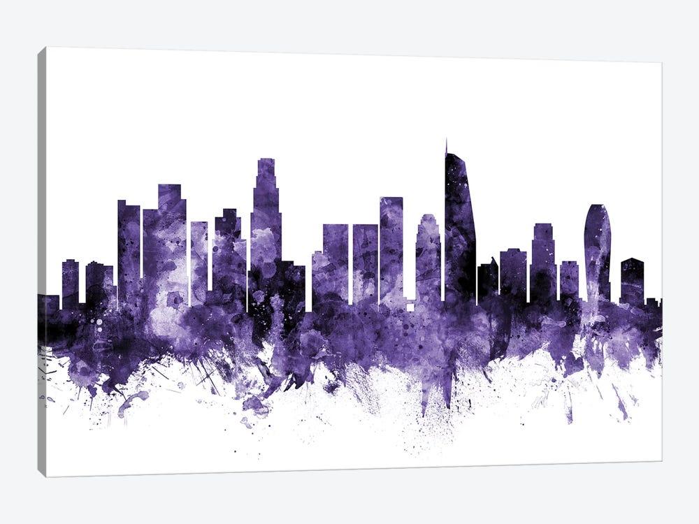 Los Angeles, California Skyline II by Michael Tompsett 1-piece Canvas Print