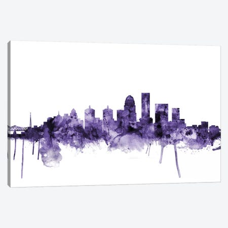 Louisville, Kentucky Skyline Canvas Print #MTO636} by Michael Tompsett Canvas Art Print
