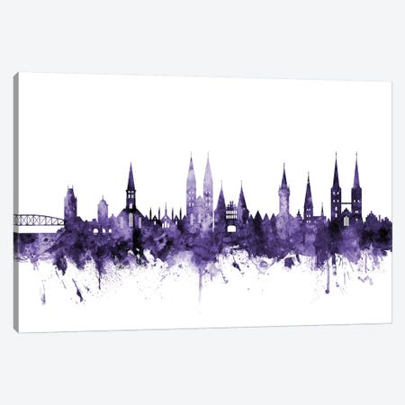 Lubeck, Germany Skyline Canvas Print #MTO637} by Michael Tompsett Art Print